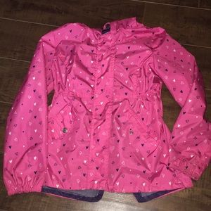 Girl's Pink Rain Jacket Coat